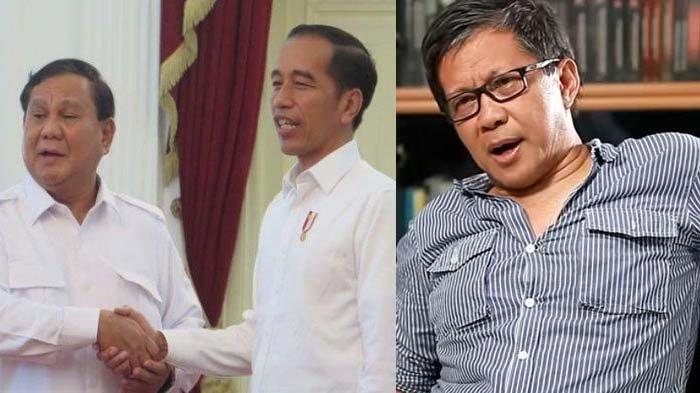 Jika Ketum Gerindra Masuk Kabinet,Rocky Gerung Sebut Prabowo Bisa Gantikan Maruf Amin Secara Politik