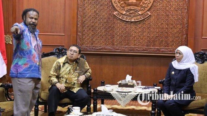 Fadli Zon dan DPR RI Temui Gubernur Khofifah di Surabaya, Bakal Datangi Asrama Mahasiswa Papua