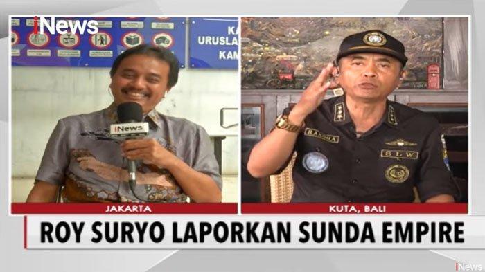 Salah Sebut Jabatan Pada LP, Rangga Sunda Empire Akan Laporkan Roy Suryo ke Mahkamah Internasional
