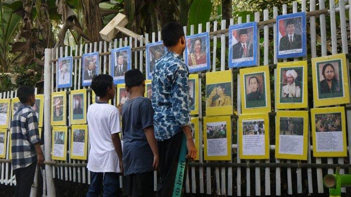 Sambut HUT Kemerdekaan RI, Warga Pajang Foto Ahok dan Presiden Serta Pahlawan Nasional