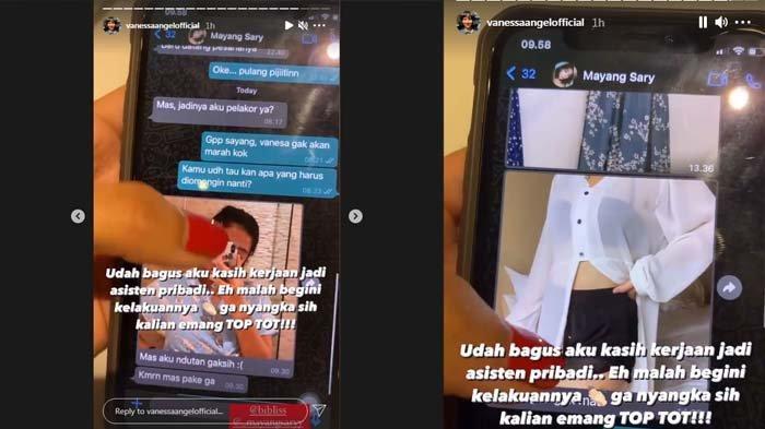 Vanessa Angel bagikan chatsuaminya, Bibi Ardiansyah dengan Mayang Sary