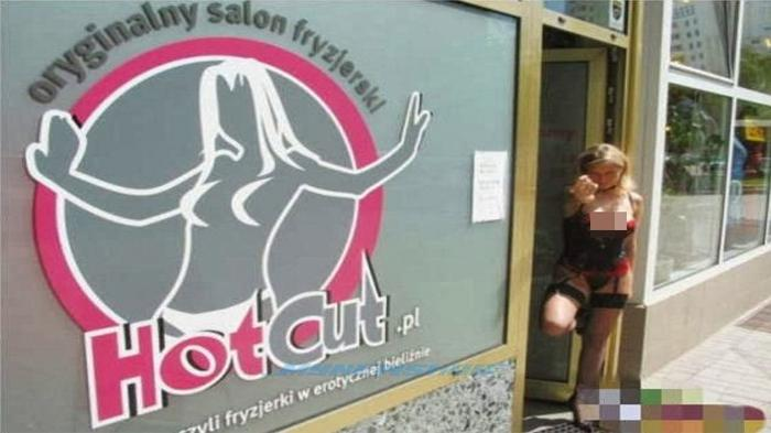 Alamak ! Tukang Cukur Rambut di Salon Pria Ini Hanya Pakai Bra dan CD, Lihat Fotonya