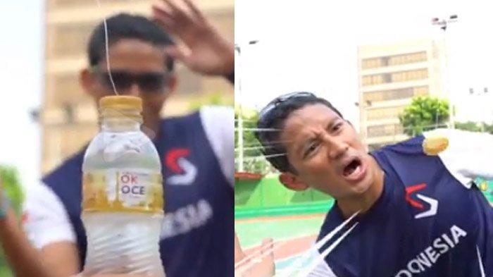 Sandiaga Uno Jawab Tantangan #BottleCapChallenge, Arief Lihat Kejanggalan : Editornya Tolong SP1 Yah