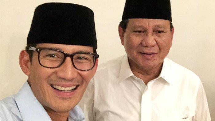 Pengundian Nomor Urut Capres-Cawapres, Prabowo-Sandiaga Uno ke KPU Usai Salat Isya