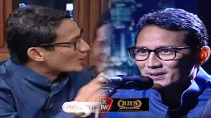 Sandiaga Uno Disodorkan Topeng Tokoh-Tokoh Kubu Jokowi-Maruf, Yang Terakhir Malah Dicium