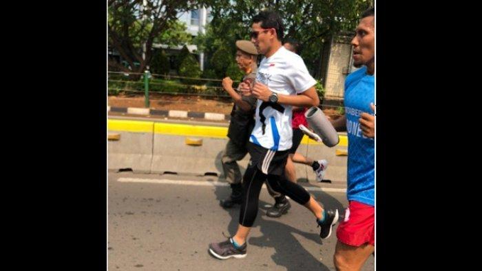 Kampanye Damai, Sandiaga Uno Tetap Akan Berolahraga Lari