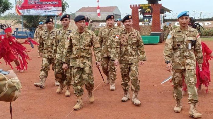Sebelum Akhiri Misi Di Afrika Tengah, Satgas Kizi TNI Konga Terima Kunjungan Tim Verifikasi