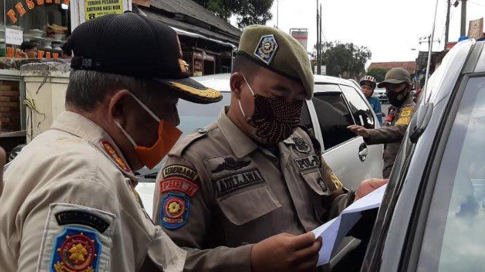 Puluhan Mobil Terpaksa Putar Balik di Pamijahan Bogor saat Operasi Yustisi