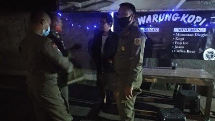 Sejumlah Warung Kopi di Bojonggede Jadi Sasaran Patroli Satpol PP Pada Malam Tahun Baru 2021