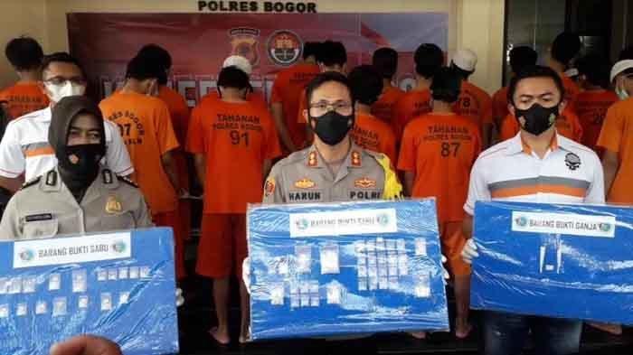 Dalam Tiga Pekan Terakhir, Polres Bogor Ungkap 20 Kasus Narkoba, 23 Pengedar Diringkus