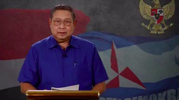 Ketua Umum Partai Demokrat menyampaikan ucapan selamat melalui video yang diunggah di youtube kepada pasangan Joko Widodo-Maruf Amin yang memenangi Pilpres 2019.(YOUTUBE)