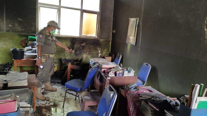 Sebuah sekolah SD di Tamansari Bogor terbakar, Kamis (19/11/2020)
