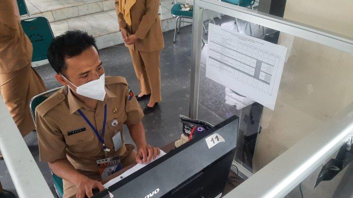 Sekda Syarifah Tinjau Tes CPNS Pemkot Bogor Hari Pertama
