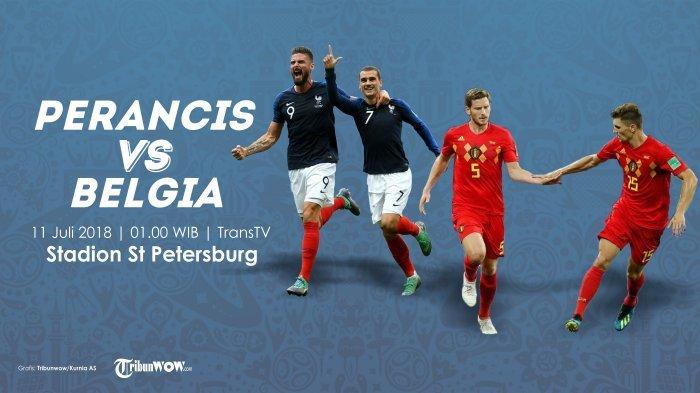 Kick Off Pukul 01.00 WIB, Ini Prediksi Semifinal Piala Dunia 2018 antara Prancis Vs Belgia