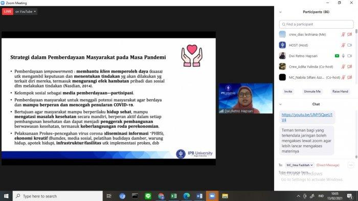 Pentingnya Pemahaman Pengabdian Masyarakat saat Pandemi, Himpunan Mahasiswa IKK IPB Gelar Seminar