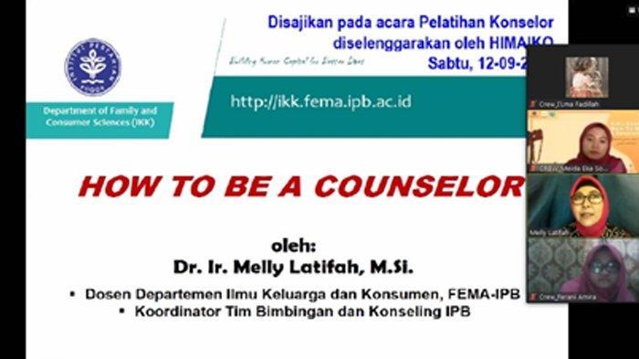 Pentingnya Kesehatan Mental saat Pandemi, Mahasiswa IKK IPB University Adakan Seminar Soal Konseling