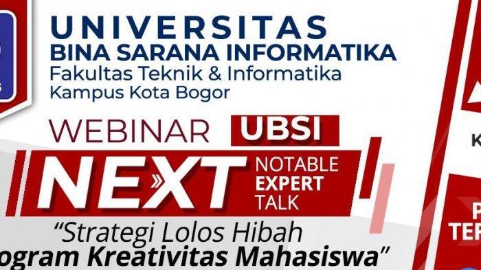 Kampus Universitas Bina Sarana Informatika Bogor Akan Gelar Webinar Next