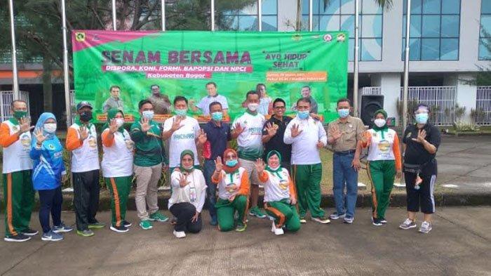 Jalin Sinergitas, Empat Lembaga Keolahragaan Kabupaten Bogor Gelar Senam Bersama