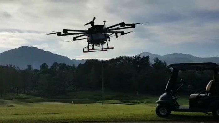 Cegah Corona, Perumahan Sentul City Bogor Disemprot Cairan Desinfektan Lewat Udara Pakai Drone