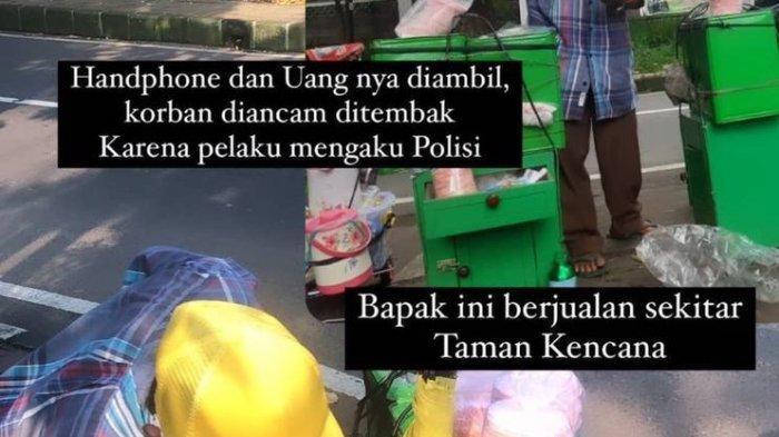 Seorang penjual arum manis di Jalan Salak Mang Epen menjadi korban penodongan pada Kamis (10/6/2021) kemarin.