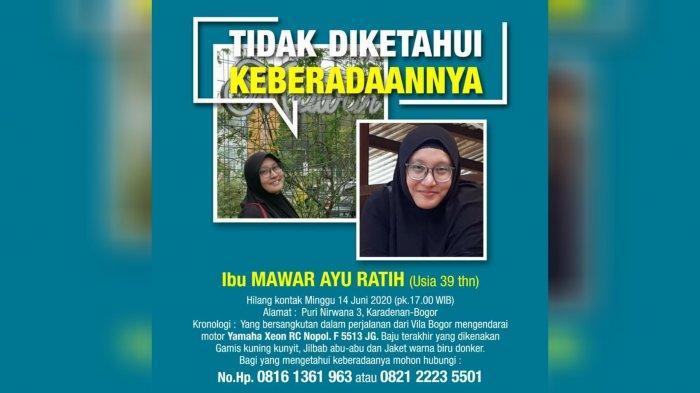 BREAKING NEWS - Seorang Wanita di Bogor Dilaporkan Hilang, Sempat Kirim Pesan WhatsApp ke Keluarga