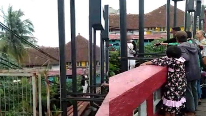 Viral Wanita Nekat Berjalan di Atas Besi Jembatan Merah Bogor, Begini Penjelasan Polisi