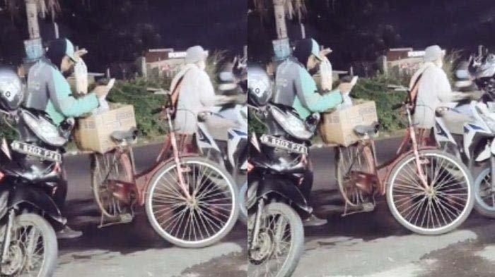 Kisah Sopir Ojol Tiap Hari Kerja Pakai Sepeda Gara-gara Motor Hilang, Pengunggah Video Bersedih