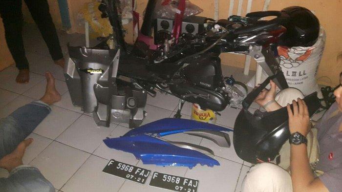 Titip Motor di Tempat Steam, Pria Ini temukan Motornya Sudah Dipreteli di Sukabumi