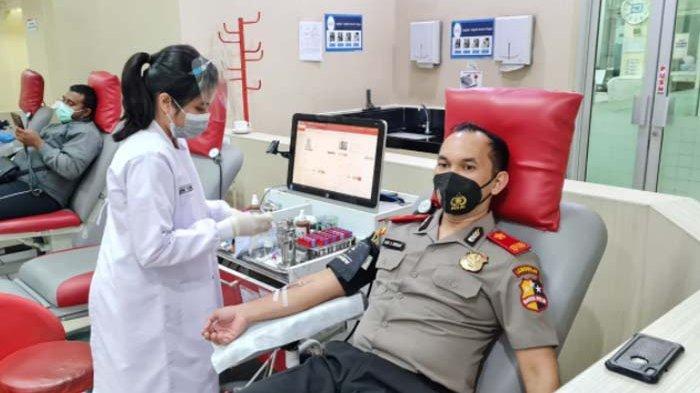 Stok Darah PMI Berkurang saat Pandemi, 5 Siswa Sespimmen Polri Dikreg 61 Sumbangkan Darah
