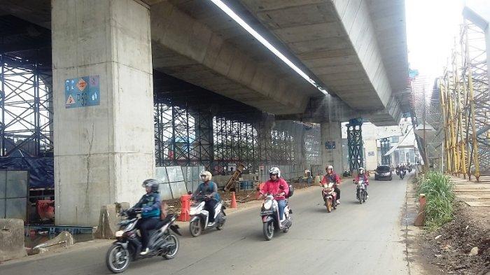 Jalan Sholeh Iskandar Kota Bogor Pagi Ini Masih Lancar, Hati-hati Tertimpa Material Proyek Tol BORR