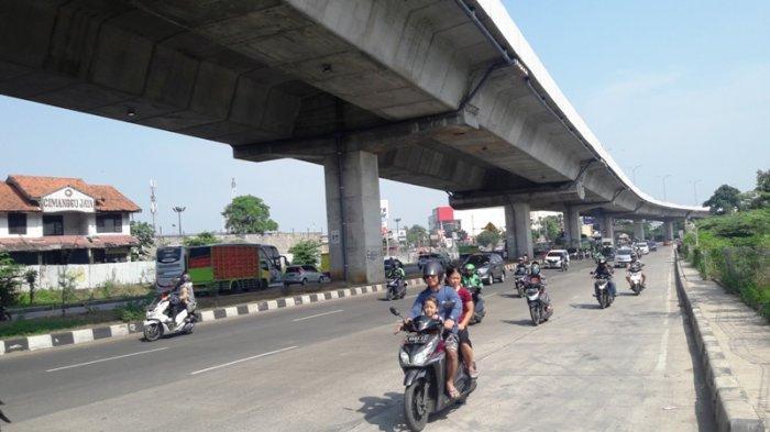 Lalu Lintas Jalan Sholeh Iskandar Bogor Lancar Selepas Contra Flow Proyek Tol BORR