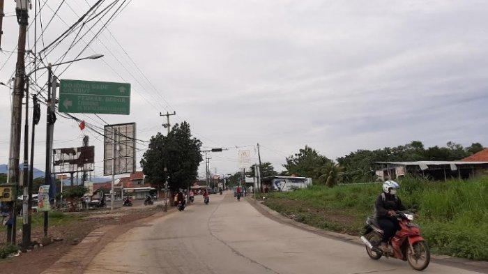 Jalan Raya Bambu Kuning Bojonggede Minggu Pagi Masih Lancar