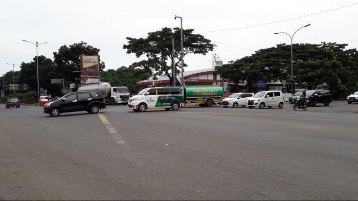Lalu Lintas Kendaraan di Simpang Sentul Kamis Pagi Ini Ramai Lancar