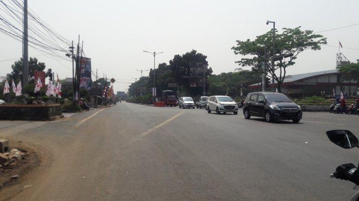Jumat Siang, Lalu Lintas Simpang Sentul Bogor Masih Cukup Lancar
