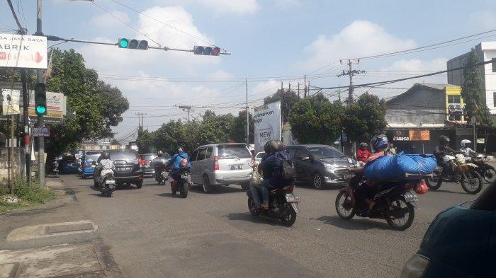 Lalu Lintas Simpang Talang Bogor Saat Ini Ramai Lancar, Cuaca Cerah