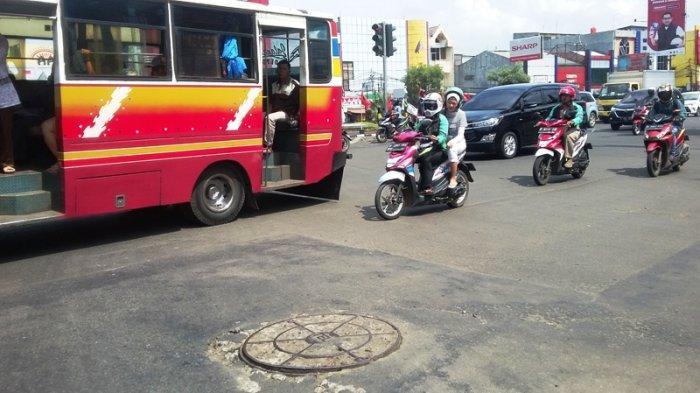 Tak Ada Kepadatan Kendaraan di Simpang Warung Jambu Bogor