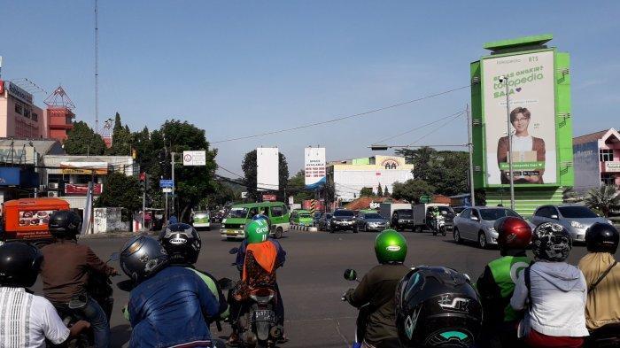 Lalu Lintas Simpang Warung Jambu Bogor, Ramai Lancar ke Berbagai Arah