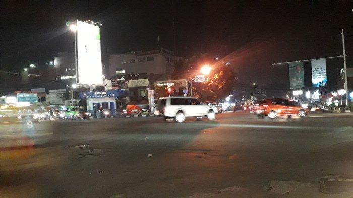 Lalu Lintas di Simpang Warung Jambu Bogor Akhir Pekan Lancar