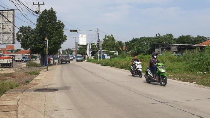 Situasi Terkini Lalu Lintas Simpang Jalan Bambu Kuning Bojonggede Bogor