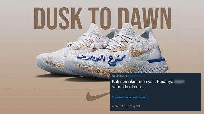 Usai Sandal Kini Sepatu Nike Rilis Model Baru Ada Tulisan Arab, Banjir Kritikan Padahal Ini Artinya!