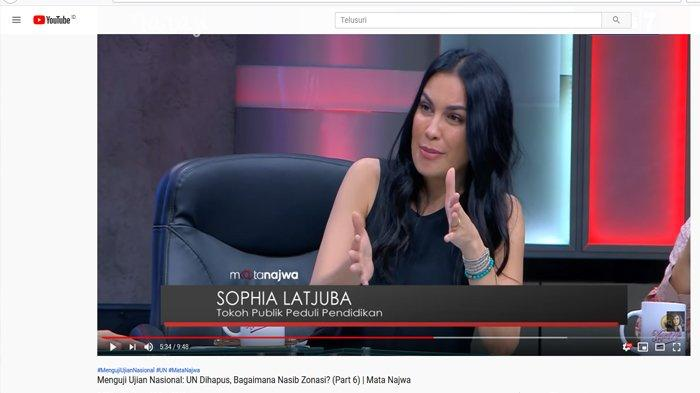 Hentikan Debat soal UN, Sophia Latjuba Bikin Penonton Mata Najwa Riuh : Bukannya Raport Udah Cukup?
