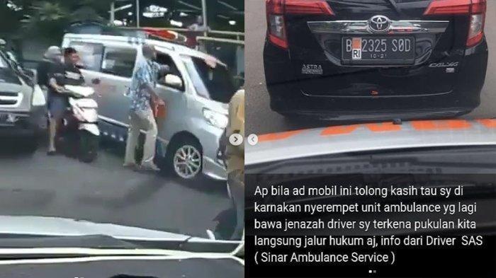 VIDEO Sopir Ambulans Bawa Jenazah Dipukul Pengendara Toyota Calya, Pelaku Kabur Setelah Menganiaya