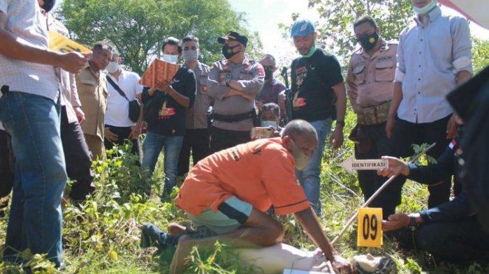 Sopir truk pembunuh dan pemerkosa siswi SMA saat rekonstruksi.