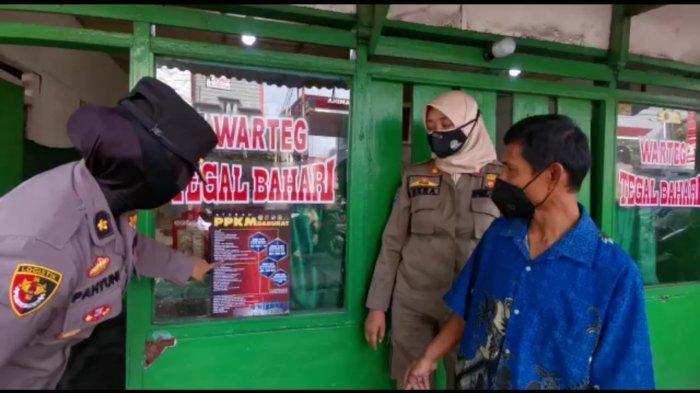 Lagi Sosialiasi PPKM Darurat di Bogor, Petugas Gabungan Berhenti Lihat Ada Warga Makan di Warteg