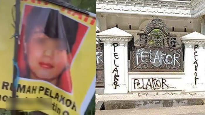 Sosok Wanita Diduga Pelakor yang Rumah Mewahnya Dicoret-coret, Anak Istri Sah Beri Pesan Menohok