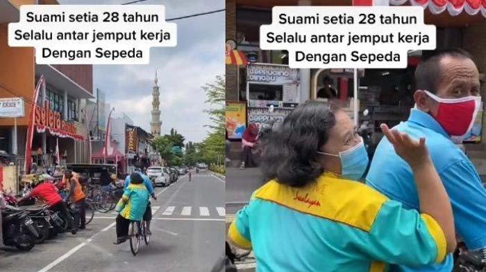Kisah Suami Antar Jemput Istri Pakai Sepeda Selama 28 Tahun, Sang Bos Terenyuh : Hati Saya Adem