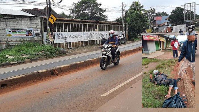 Jalan Parung KM 42 Banyak Tercecer Tanah Merah, Pengendara Motor Tergelincir