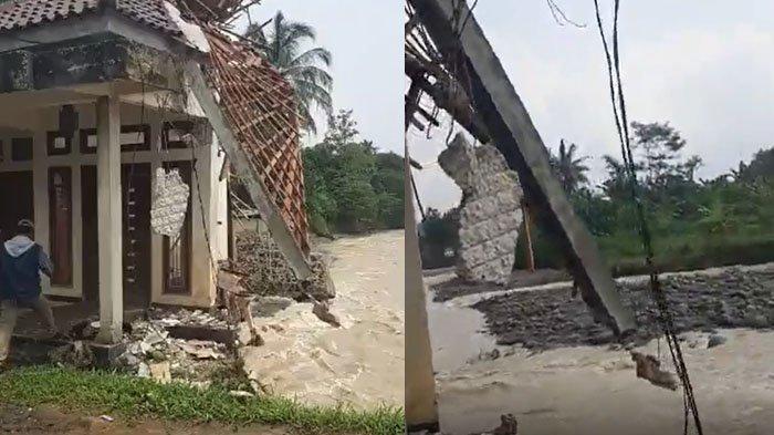 Jembatan Putus Imbas Derasnya Sungai Cidurian, Puluhan Warga di Jasinga Bogor Terisolasi