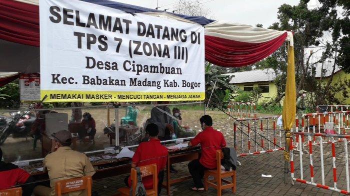 Suasana Pilkades Serentak 2020 Kabupaten Bogor, TPS Sepi dari Pedagang