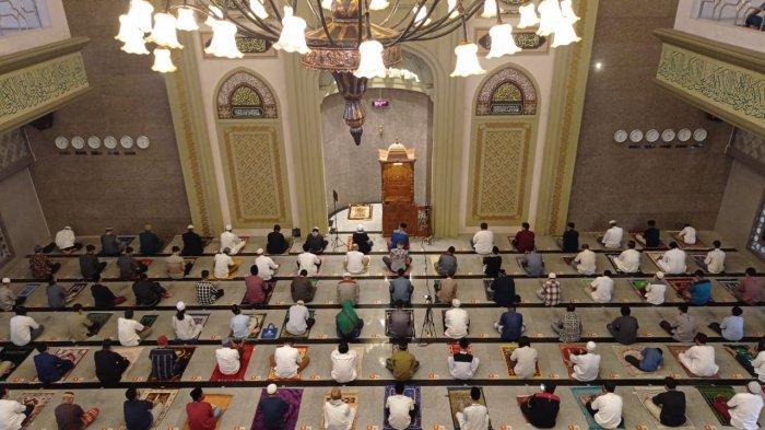 Salat Idul Fitri di Masjid Raya Kota Bogor Sesuai Prokes, Khotib Berpesan Ini saat Khotbah